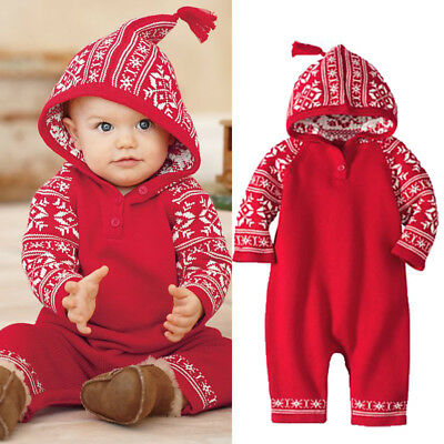 Christmas Costume Newborn Baby Girl Boy Romper Jumpsuit Bodysuit Outfits Clothes