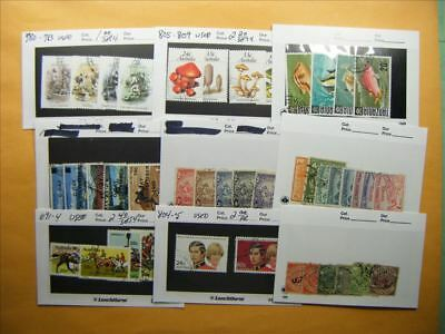 3377 Br. Commonwealth Lot of 9 Used Stamp Packs