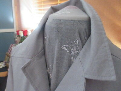 Vintage Retro Men's Silver Grey Safari Jacket. Topliner.Size 42. Costume, Fun.