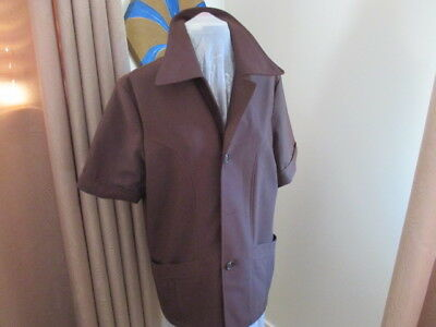 Vintage Retro Men's Brown Safari Jacket. Size 40 R. Heaps of Details. Fabulous!!