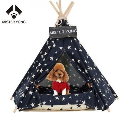 Yongs Pet Cat Dog Rabbit Teepee Cushion,Portable Puppy Small Animals Bed Tent