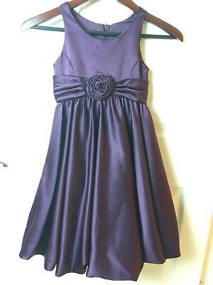 David's Bridal Flower Girl Dress Plum Purple Begonia Style KP1311 Size 7 EUC
