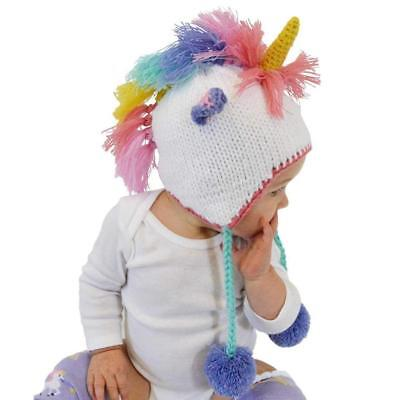 Huggalugs Baby, Toddler and Adult Unicorn Beanie Hat In 2 Color Choices