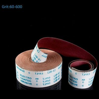 """Red 4"""" Wide Aluminum Oxide Emery Cloth Roll Sandpaper 60-600 Grit - 1 Meter Pack"""