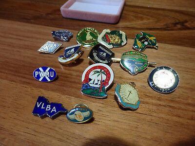 14 Assorted Vintage Badges. Bowling Clubs, Bi Centenary PWMU etc