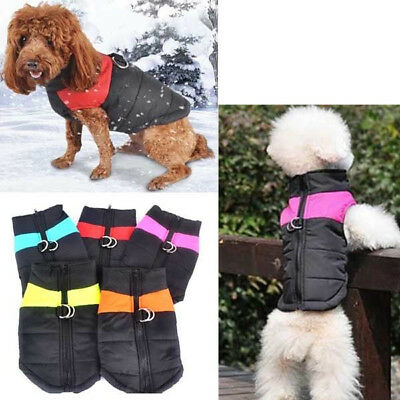 Pet Winter Warm Padded Coat Jacket Waterproof Vest Large Small Dog Clothes S-5XL