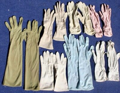 VINTAGE 1960s GLOVES, day or Evening, DRESS Up  or re purpose 7 pairs small -Med