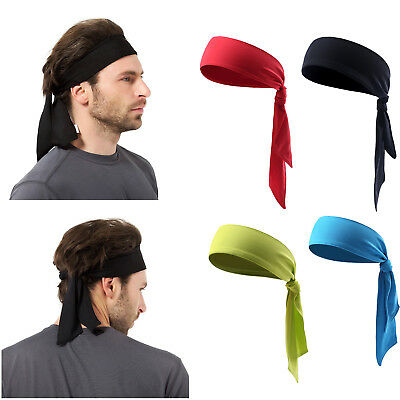US Men Women Sports Sweat Headband Pirate HairBand Free Bandage Tennis Running