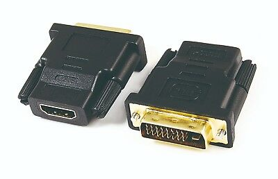 Hdmi Female To Dvi-D Male Socket Adaptor Adapter Converter Joiner