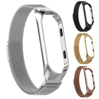 Magnetic Milanese Stainless Steel Watch Band Wrist Strap For Xiaomi MiBand 3