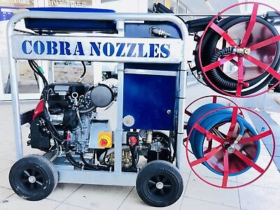 Brand New : Cobra Water Jetter, 4300 psi, 24 lpm - Drain Cleaning ;Water Jetting