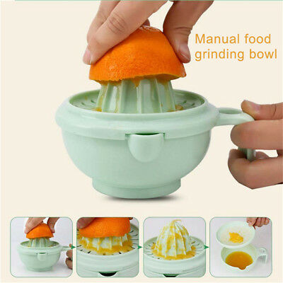 5X(9 sets of baby food supplement grinder manual food grinding bowl baby pu T5J4