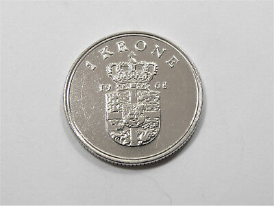 1 Krone Denmark 1968 - *polished* gift/ collect #6970