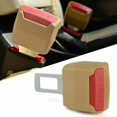 Dark Beige Car Seat Belt Clip Safety Buckle Extender Extension Brandnew