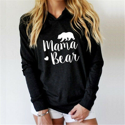 Spring Autumn Women Hooded Sweatshirts Letter Print Pullover Tops 6A