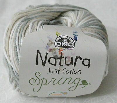0009 Gris Argent DMC Natura Just Cotton 4ply 50g Balls