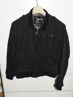 barbour a1083 ford black  jacket   jacke waxed cotton L