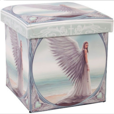 "Anne Stokes ""spirt Guide"" Storage Box Ottoman Style Collapsible"