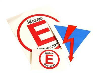 Lifeline Decal Pack. Fire Extinguisher & Battery Cut Off / Out Stickers