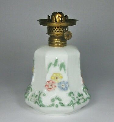 Vintage  Miniature Cosmos Glass  Hand Painted Ol Lamp Base