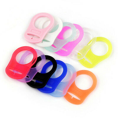 5PCS Soft Silicone Button MAM Ring Dummy / Pacifier Holder Clip Adapter 6A