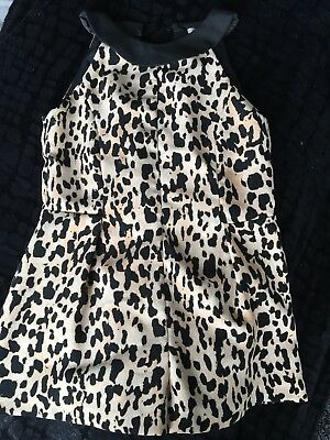 River Island Girls Animal Print Playsuit - 5 Years
