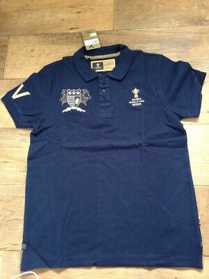 Bnwt RUGBY WORLD CUP 2015 CANTERBURY Mens Polo Shirt Navy Size L