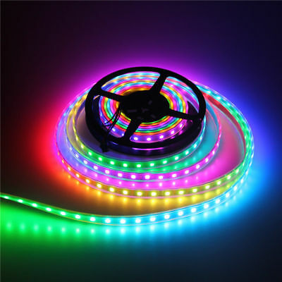 DC 5V WS2812B 5050 RGB LED Strip Tube 30/60/144LEDs/M IC Individual Addressable