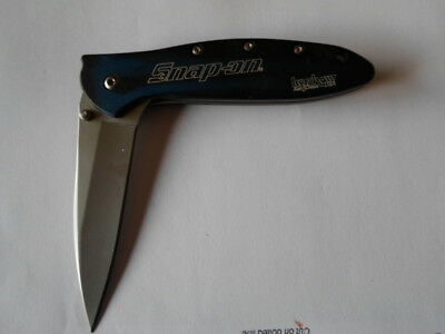KERSHAW LEEK 1660BBSO SNAP-ON KNIFE, BLUE, Dec '07, made in the USA (8/20/18)