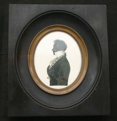 Miniature Silhouette of CARL ROHLIG 19th C.