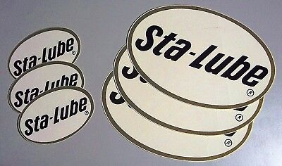 Sta-Lube Oval, Sticker Set of 6 - Classic Design - 3 Large, 3 Small Stickers  >