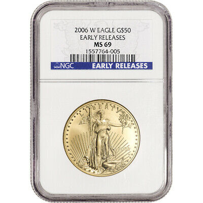 2006-W American Gold Eagle Burnished 1 oz $50 - NGC MS69 Early Releases