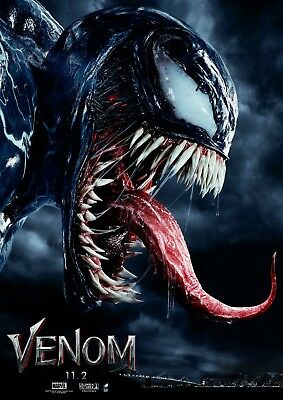 "Venom Movie Poster 12x18"" 24x36"" 27x40"" Tom Hardy Marvel Comics Art Film Print"