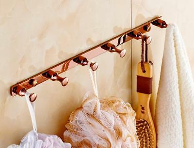 Brass Bathroom Accessory Wall Mount Hooks Hanger Towel Clothes Holder Shelf R42