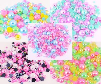 Flat Back AB Pearl Mixes For Craft Card Making Kawaii - CHOOSE STYLE - UK Seller