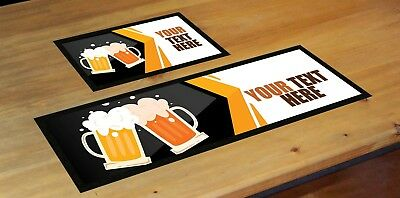 BEER MAT LABEL PERSONALISED BEER BAR RUNNER IDEAL HOME PUB OCCASION