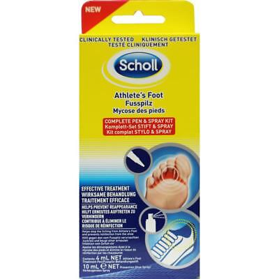 Scholl Athlete's Foot Treatment Complete Pen and Spray Kit Clinically Tested