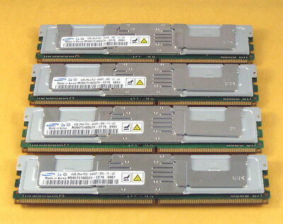 "Samsung 16GB 4x 4GB PC2-6400F ""ECC"" Server 800MHz FB-DIMM Fully Buffered DDR2"