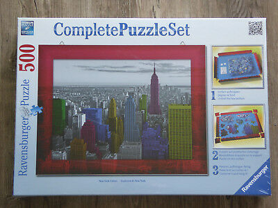 "RAVENSBURGER COMPLETE PUZZLE SET 500 Teile ""NEW YORK COLORS"" NEU"