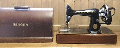 ANTIQUE 1930s SINGER HAND CRANK HAND OPERATED SEWING MACHINE - FREE UK P&P