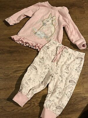 Monsoon Baby 3-6 Month Pink Rabbitt Pajamas.