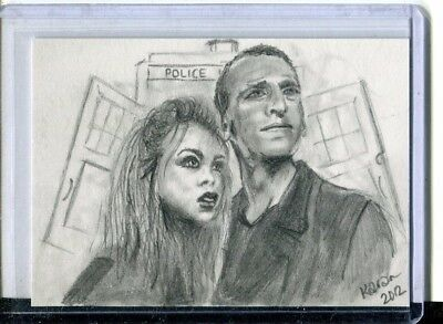 Hand Drawn Dr. Who Sketch Card (Personal Card Stock)