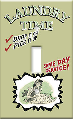 Laundry ServiceTime Room Single Switchplate Cover