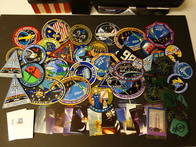 Group Of U.S. Air Force Space Command & Related Patches & Cards