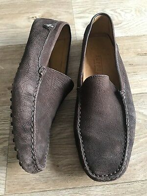 Tods Ferrari Brown Loafers