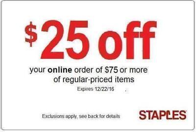 Staples $40 off $80 coupon