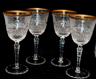 4 Ebeling & Reuss Marchioness Water Stems Glasses Clear 7 3/8""