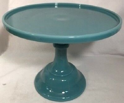 """Cake Plate Pastry Tray Bakers Cupcake Stand Plain Simple Georgia Blue Mosser 10"""""""