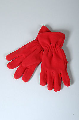 Kids Fleece Winter Gloves  Ages 2 - 12. Grey, Royal, Navy, Black, Red or Maroon