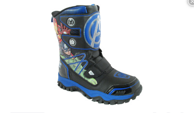 Marvel Avengers Age of Ultron Boys Size 1 Blue/Black Boots NWT